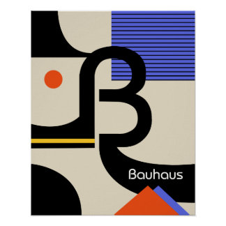 bauhaus typography retro modern graphic design poster
