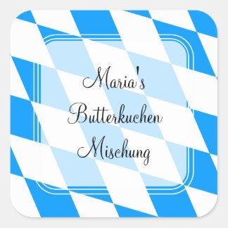 Bavaria blue white classic sticker