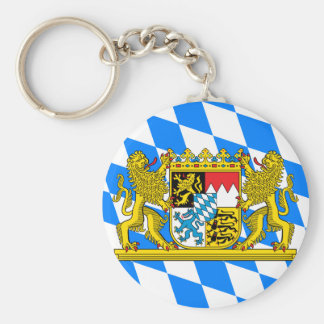 Bavaria Coat of arms Basic Round Button Keychain