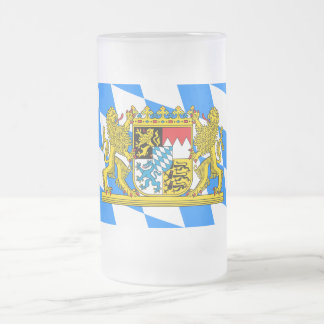 Bavaria Coat of arms Frosted Glass Beer Mug