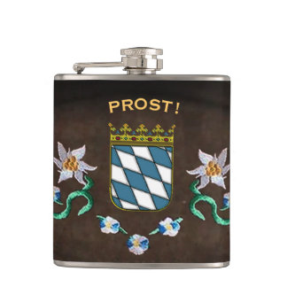 "Bavaria Coat of Arms ""Prost!"" Flasks"