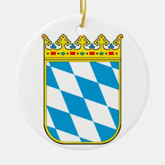 Bavaria coat of arms round ceramic ornament