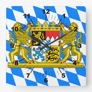Bavaria Coat of arms Square Wall Clock