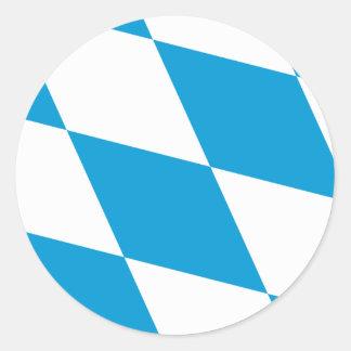 Bavaria Flag Bavarian Flag Classic Round Sticker