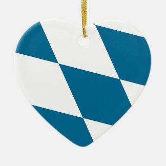 Bavaria Flag Ceramic Heart Ornament