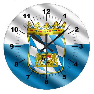 Bavaria flag large clock
