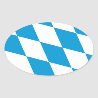 Bavaria Flag Oval Sticker