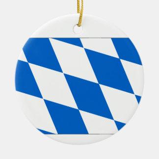 Bavaria flag round ceramic ornament
