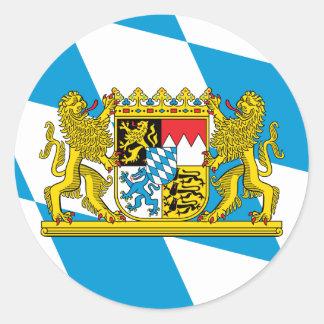 Bavaria Flag Round Sticker
