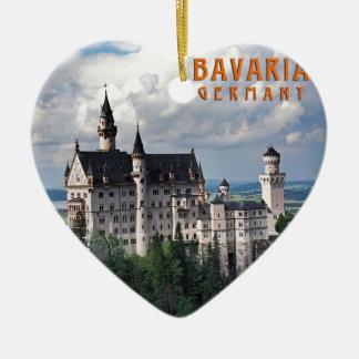 Bavaria, Germany Ceramic Heart Ornament