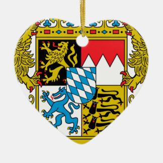 Bavaria (Germany) Coat of Arms Ceramic Heart Ornament
