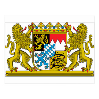 Bavaria (Germany) Coat of Arms Postcard