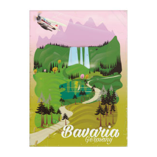 Bavaria Germany landscape travel print Acrylic Wall Art