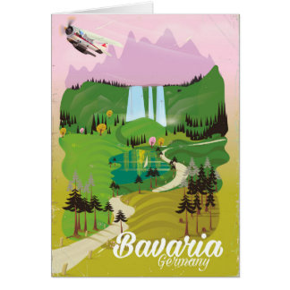 Bavaria Germany landscape travel print Card