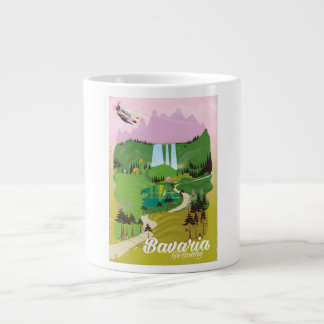 Bavaria Germany landscape travel print Giant Coffee Mug