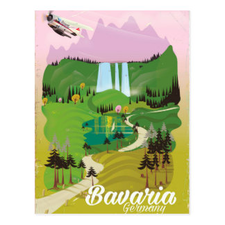 Bavaria Germany landscape travel print Postcard