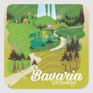 Bavaria Germany landscape travel print Square Sticker