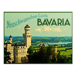 Bavaria Germany Neuschwanstein Castle Postcard