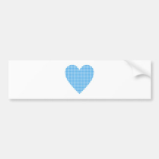 Bavaria heart lozenges Bavaria heart dia. moon Bumper Sticker