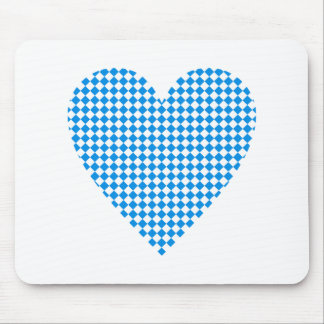 Bavaria heart lozenges Bavaria heart dia. moon Mouse Pad