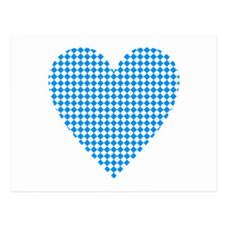 Bavaria heart lozenges Bavaria heart dia. moon Postcard