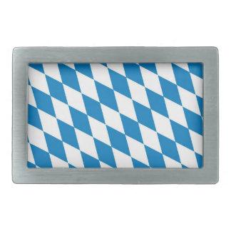 bavaria land region germany country flag rectangular belt buckle