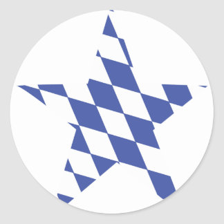 bavaria oktoberfest star classic round sticker