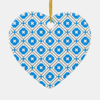 Bavaria Pattern Ceramic Heart Ornament