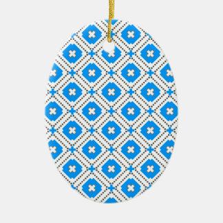 Bavaria Pattern Ceramic Oval Ornament