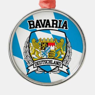 Bavaria Silver-Colored Round Ornament