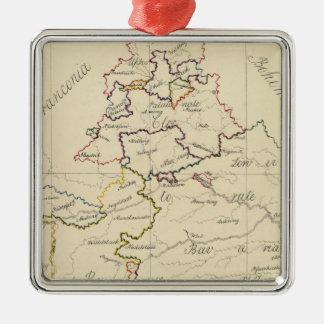 Bavaria Silver-Colored Square Ornament