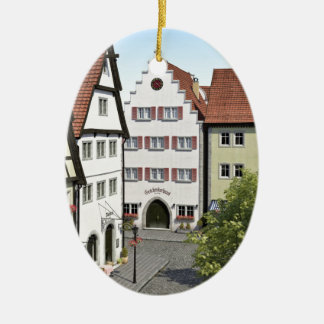 Bavaria Town From Above Ceramic Oval Ornament