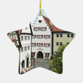 Bavaria Town From Above Ceramic Star Ornament