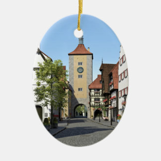 Bavaria Town Main Street Ceramic Ornament