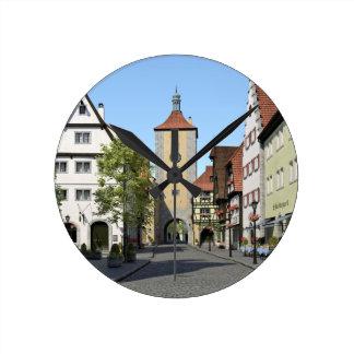 Bavaria Town Main Street Round Clock