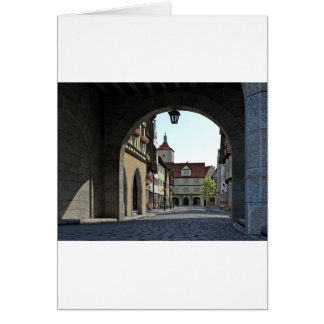 Bavaria Town Through an Arch Card