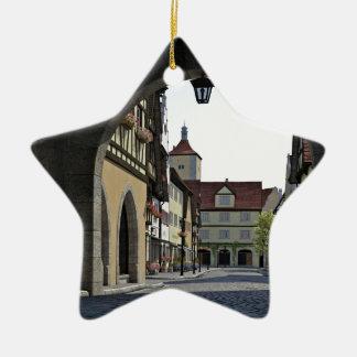 Bavaria Town Through an Arch Ceramic Star Ornament