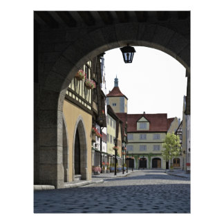 Bavaria Town Through an Arch Custom Letterhead