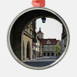 Bavaria Town Through an Arch Metal Ornament