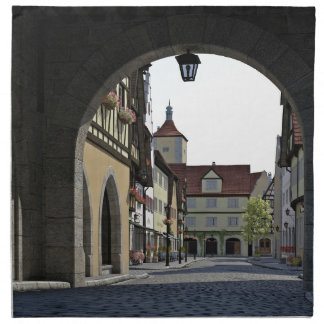 Bavaria Town Through an Arch Napkin