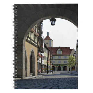 Bavaria Town Through an Arch Notebook