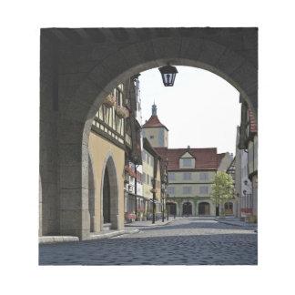 Bavaria Town Through an Arch Notepad