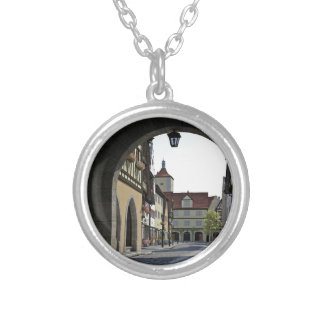 Bavaria Town Through an Arch Silver Plated Necklace