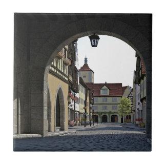 Bavaria Town Through an Arch Tile