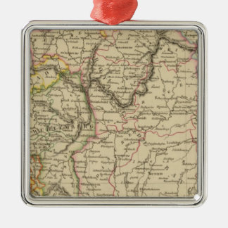 Bavaria, W�rttemberg and Baden Gr Silver-Colored Square Ornament