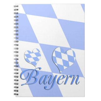 Bavaria with hearts notebooks