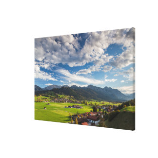 Bavarian Alpine Landscape Canvas Print