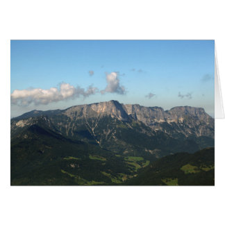 Bavarian Alps near Berchtesgaden Card