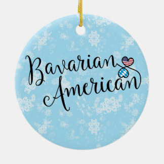 Bavarian American Hearts Holiday Decoration