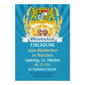 Bavarian Arms and Beer Oktoberfest Invitation